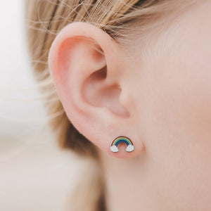 Kids Rainbow Stud Hypoallergenic Earrings