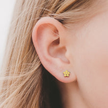 Kids Smiley Star Stud Hypoallergenic Earrings