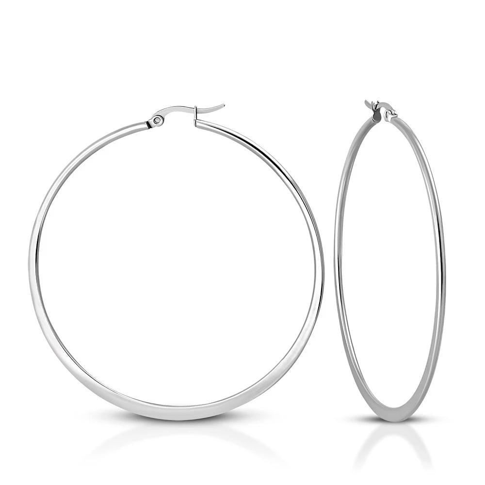 6.5cm Hoop Hypoallergenic Earrings