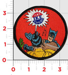"US Navy CVN-69 ""I Like Ike"" Batman Patch- with Hook & Loop"