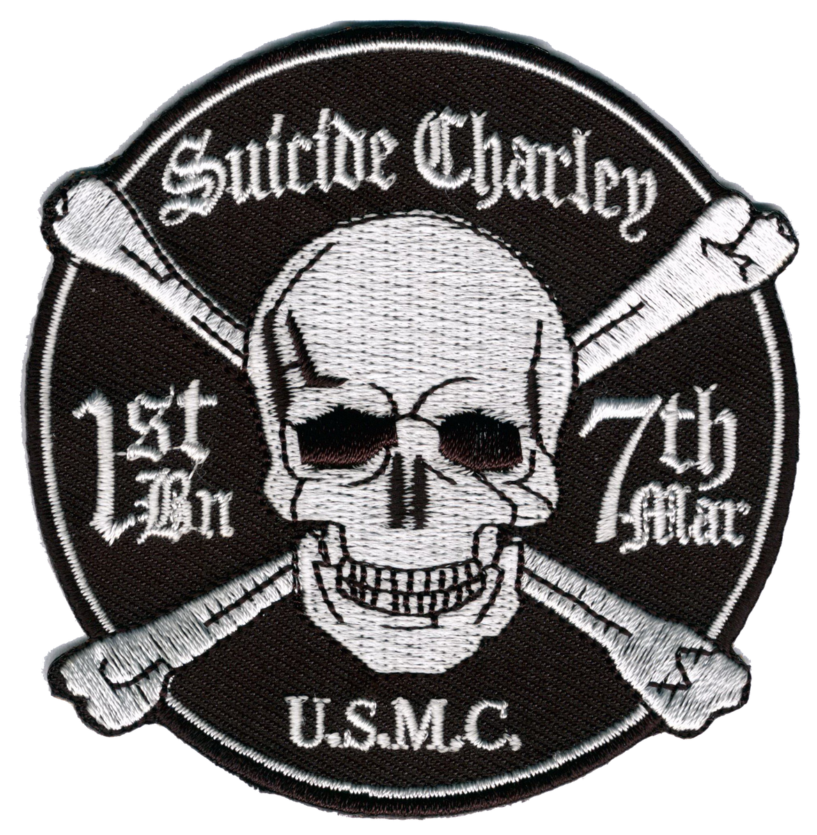 USMC 1st Bn 7th Marines Suicide Charlie- With hook and loop ...