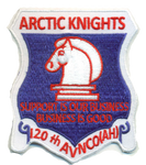 US Army 120th AVN Co Arctic Knights- No Hook and Loop