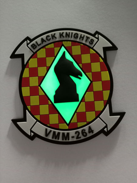 VMM-264 Black Knights PVC Squadron Patch- With Hook & Loop
