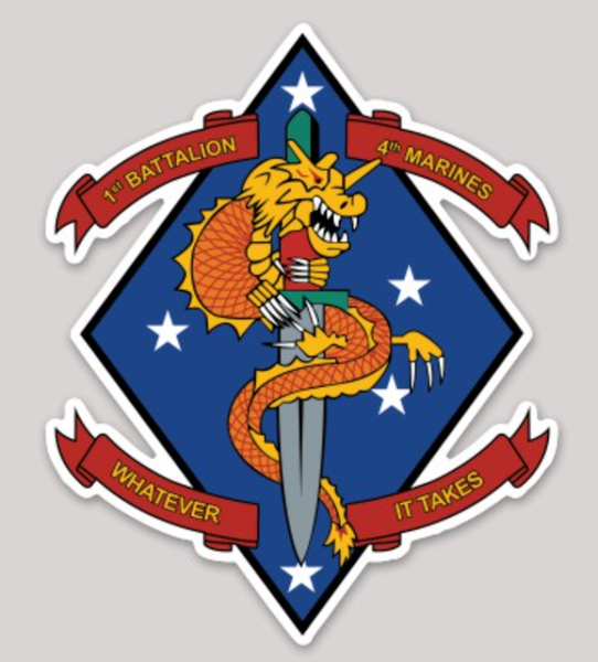 1st Bn 4th Marines Sticker