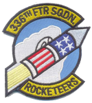 336th Fighter Squadron Rocketeers- No Velcro