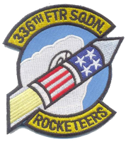 336th Fighter Squadron Rocketeers-No Hook and Loop