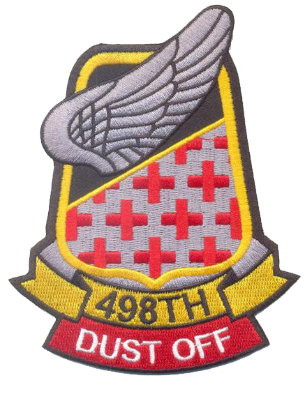 "US Army 498th Medivac Patch with ""Dust Off"" Tab"