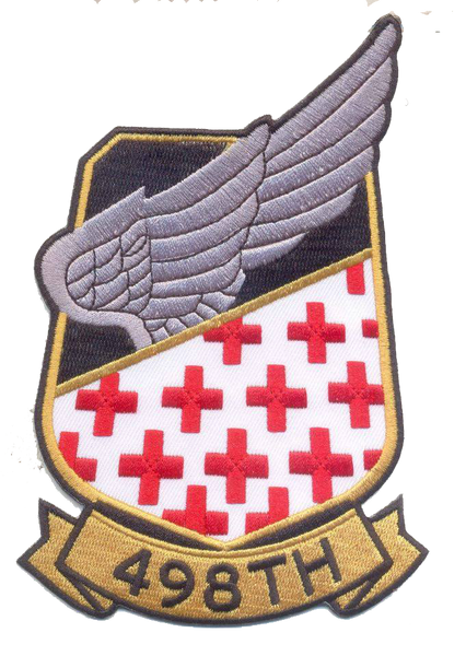 US Army 498th Medivac Patch- No Hook and Loop