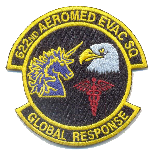 USAF 622nd Aeromed- No Velcro