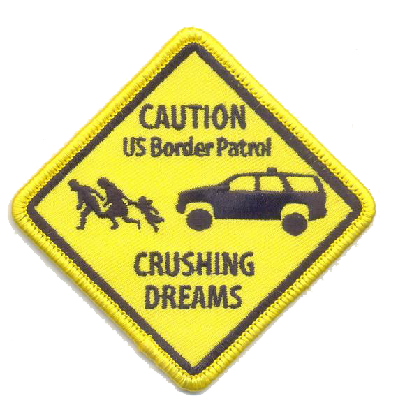 US Border Patrol- Crushing Dreams- With Velcro