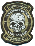 7th ID Recon Patch-With Hook and Loop