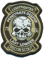 7th ID Recon Patch- With Velcro