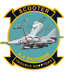 "US Navy A-4 Skyhawk ""Scooter Trouble Shooter"" Sticker"