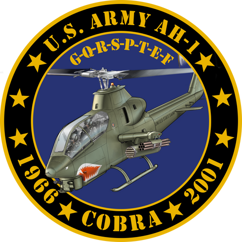 US Army AH-1 Cobra Tribute Sticker
