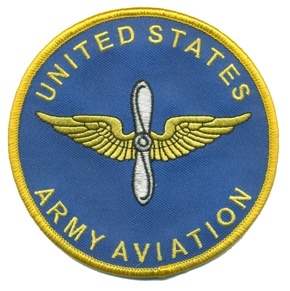 US Army Aviation Branch Patch- No Hook and Loop