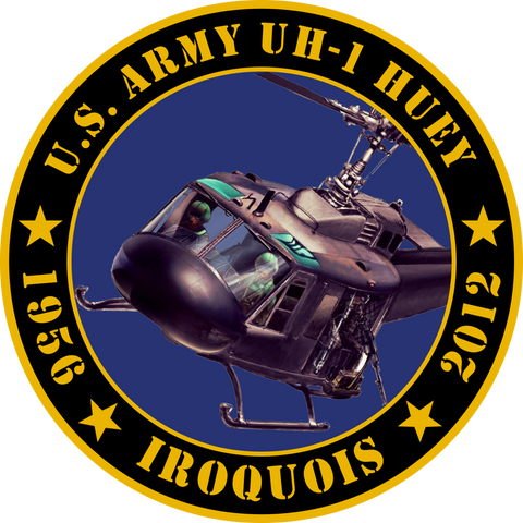 US Army UH-1 Huey Tribute Sticker