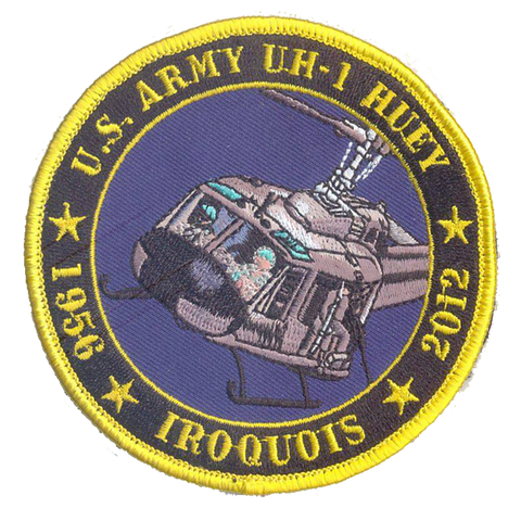 US Army UH-1 Huey Commemorative Patch- No Velcro