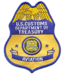 Legacy US Customs Air Agent Badge- No Hook and Loop