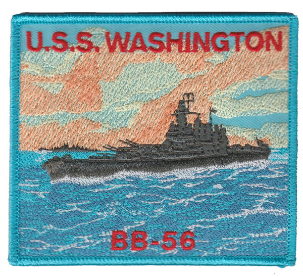 USS Washington BB-56- No Hook and Loop