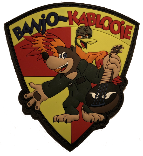 11th MEU 3/5 Darkhorse & VMM-163 Evil Eyes Banjo & Kablooie PVC Patch-With Velcro