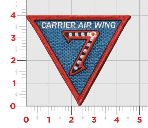 Official US Navy Carrier Air Wing CVW-7- No Hook & Loop