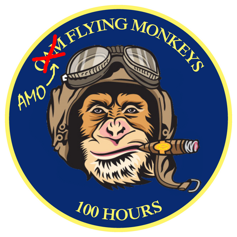 CBP AMO Flying Monkeys Sticker