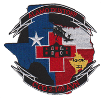 US Army C Co 2-149 Alamo Dustoff KFOR 22 Patch- No Velcro