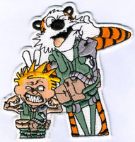 Calivn & Hobbes CQ DET Patch- With Velcro