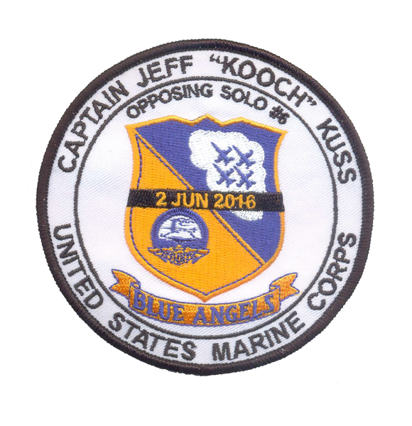 Blue Angels-Jeff Kuss Memorial Patch-With Velcro & Sticker
