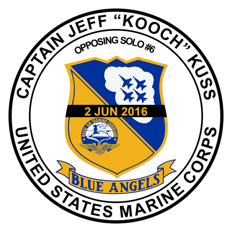 Blue Angels- Jeff Kuss Memorial sticker