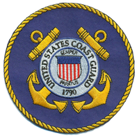 "US Coast Guard 4"" Blue Patch"