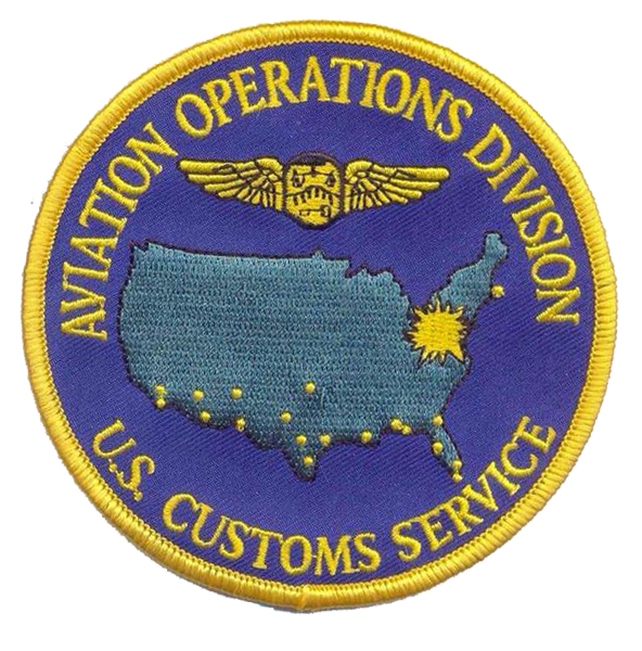 Legacy US Customs, Air Headquarters- No Velcro