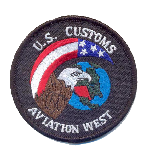 Legacy US Customs Aviation West- No Hook and Loop