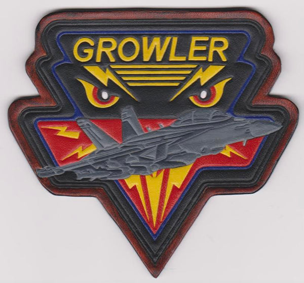 EA-18 Growler Leather Patch