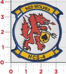 Official US Navy HCS-4 Red Wolves- No Hook & Loop