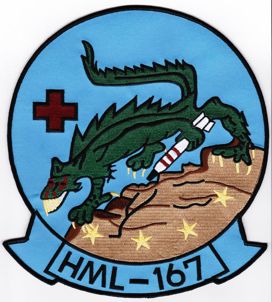 "HML-167   8"" x 9"" Large Embroidered Patch"
