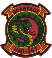 USMC HML-367 Scarface Squadron Patch- No Velcro