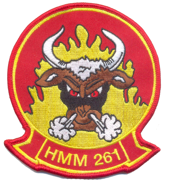 USMC HMM-261 Raging Bulls Patch- No Velcro
