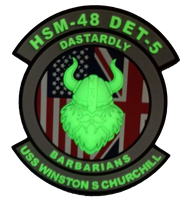 US Navy HSM-48 Dastardly Barbarians DET 5 PVC- With Hook and Loop