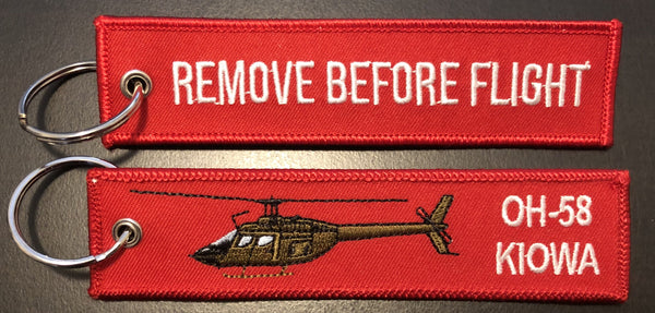 OH-58 Kiowa REMOVE BEFORE FLIGHT Key Ring