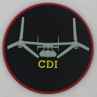 USMC MV-22 Qualification Patch- Collateral Duty Inspector (CDI) GITD with velcro