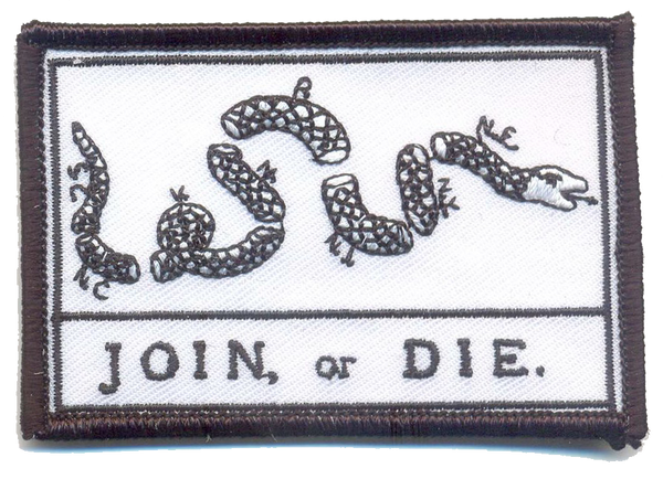 Join or Die Flag- With Velcro