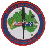 MASS-2 Pacific Vagabonds Australia Black Dagger 2018- With Hook and Loop