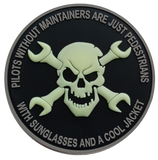 Aircraft Maintainer PVC Patch-With Hook and Loop