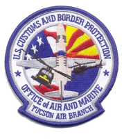 US Customs and Border Protection, Tucson Air Branch (Office of Air and Marine) Patch Full Color Patch- With Velcro