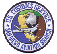 Legacy US Customs San Diego Air Branch Patch- No Hook and Loop