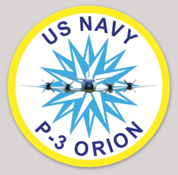 US Navy Official P-3 Orion Sticker