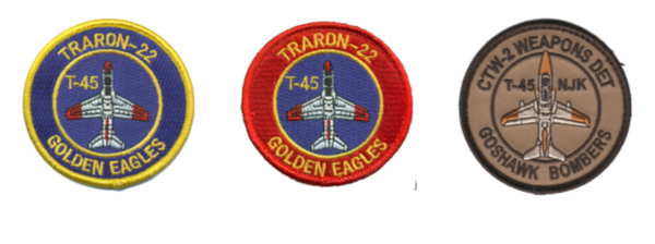 VT-22 Golden Eagles T-45 Shoulder Patch- With Hook and Loop