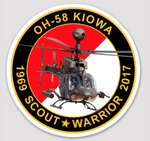 "US Army OH-58 Kiowa 4"" Commemorative Sticker"