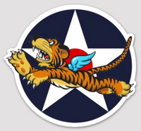 US Army Air Corps WWII Flying Tigers Sticker